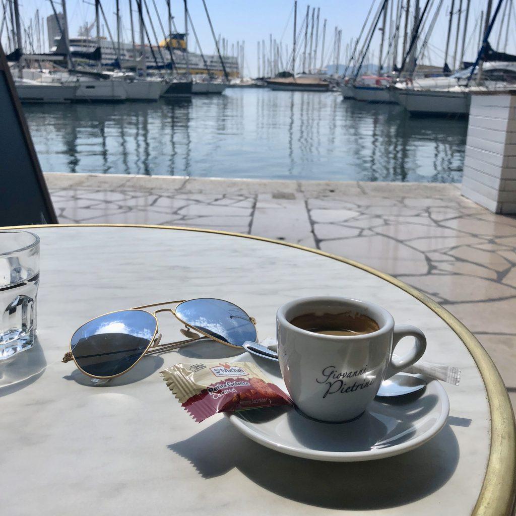 Espresso by the sea