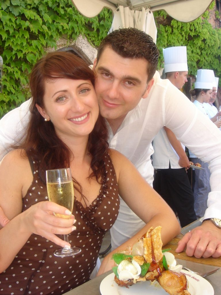 French Riviera engagement party
