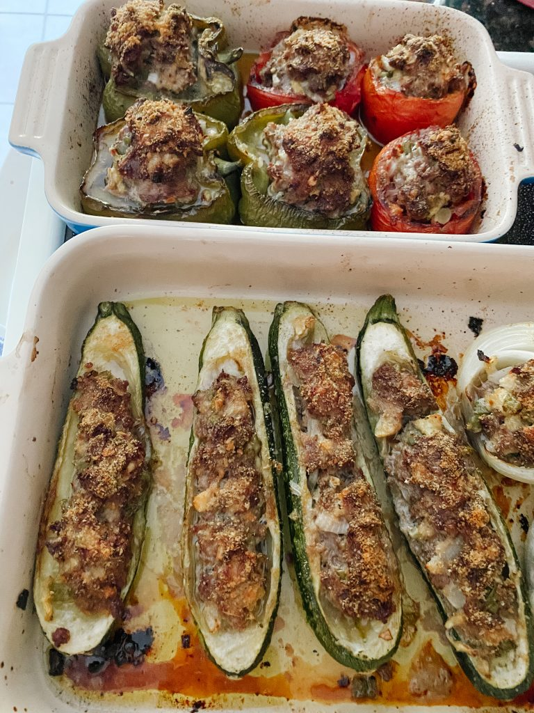 Petits Farcis out of the oven
