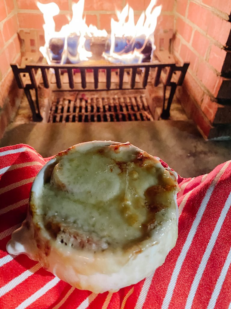 french onion soup fireside