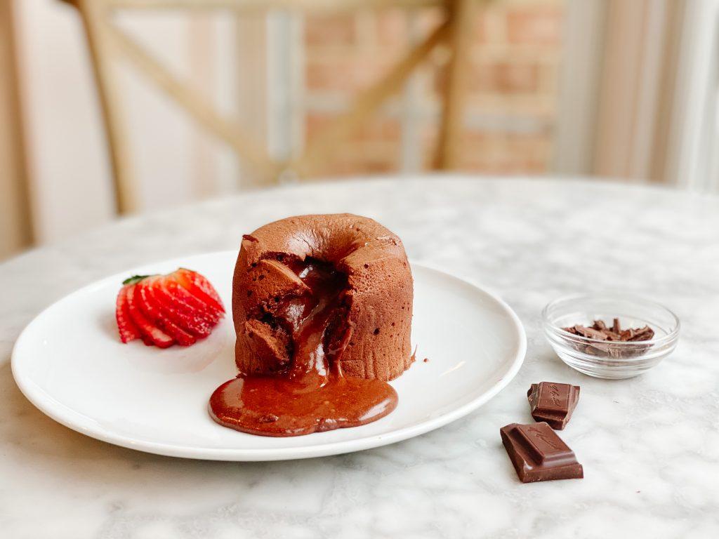 finished moelleux au chocolat