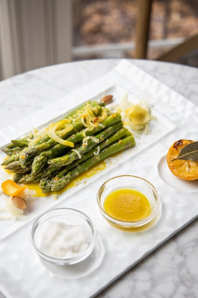 Asparagus with Champagne Citrus Vinaigrette