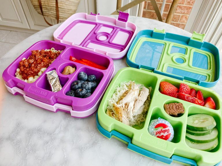 Bentgo lunch boxes filled with healthy school lunches