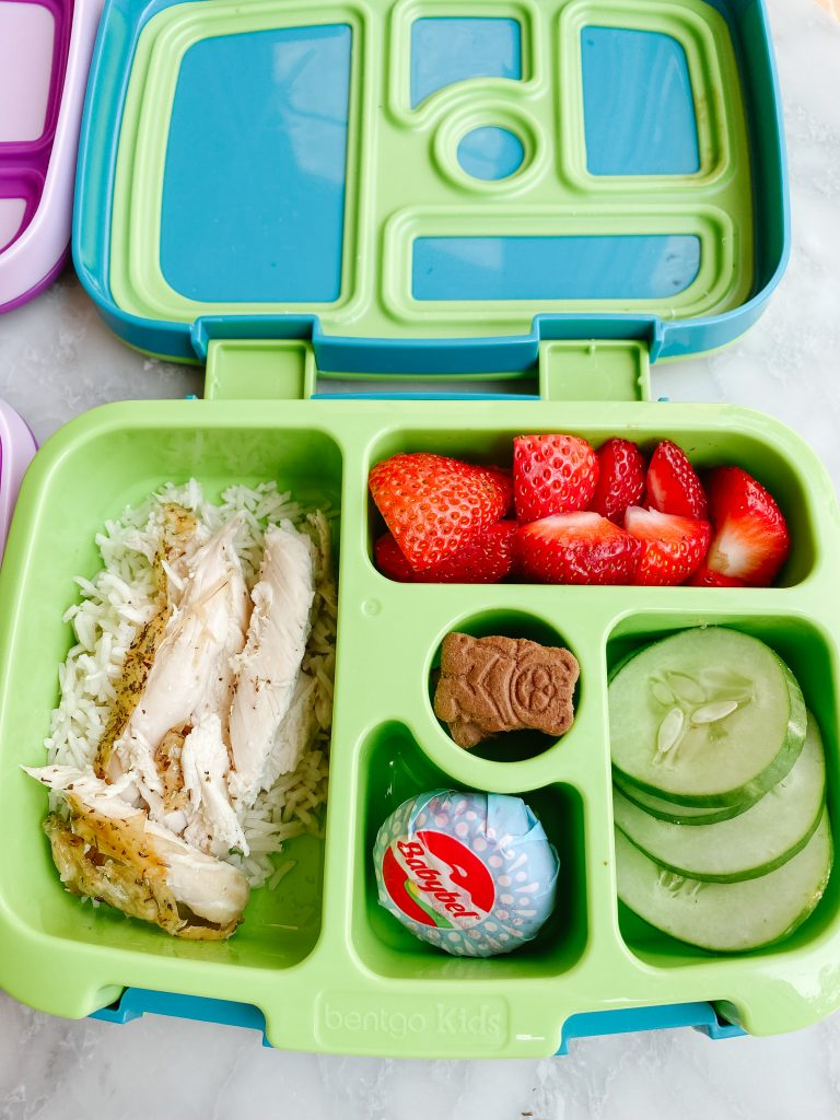 roast chicken and rice lunch box
