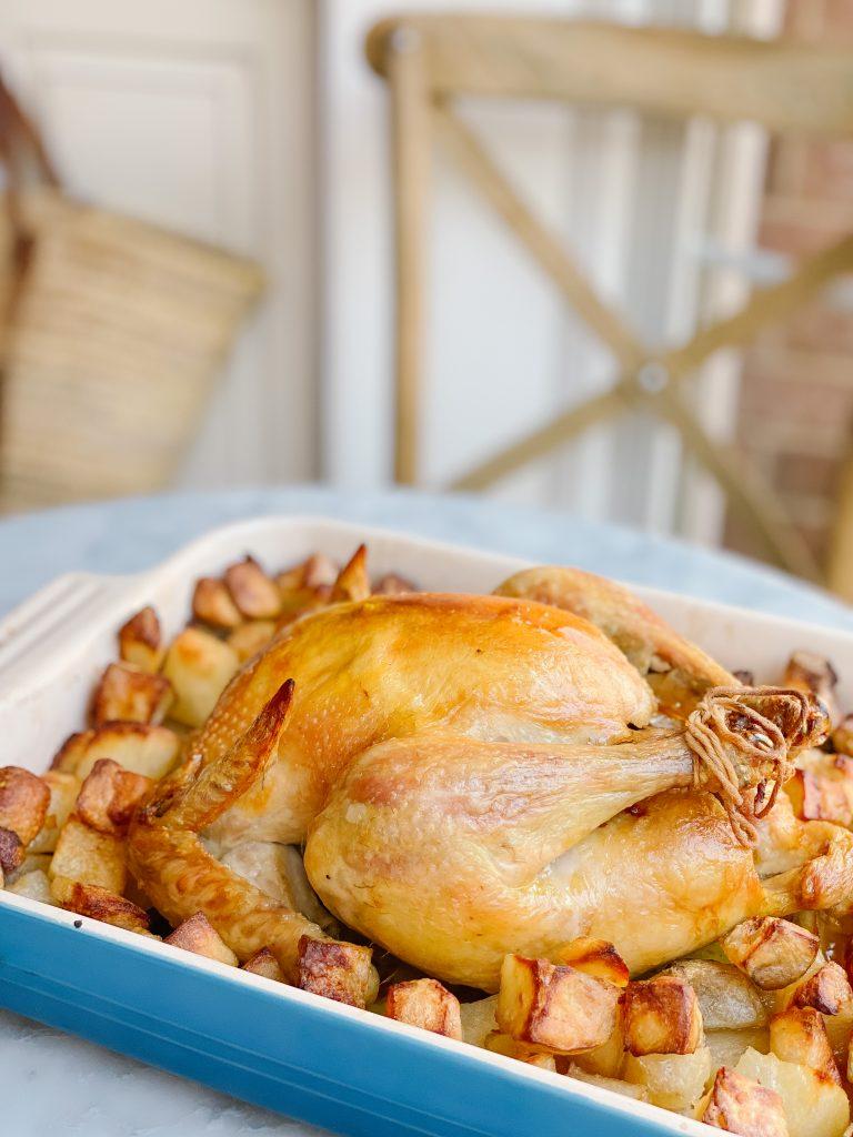 roast chicken close up 2